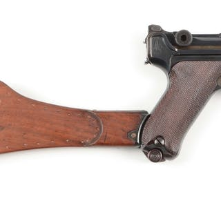 1917 Navy Luger featuring short frame