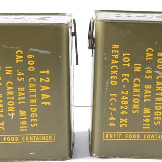 "Lot consists of: two factory sealed tins of ""T2AAF 600..."