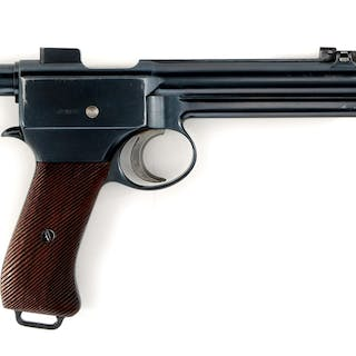 This semi-automatic pistol was issued to the...