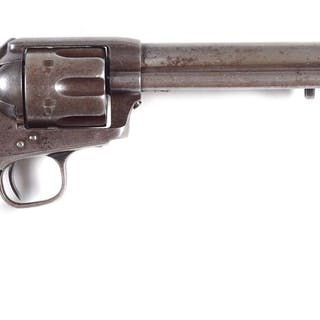 """A very unique and intriguing Colt Single Action with """"US""""..."""