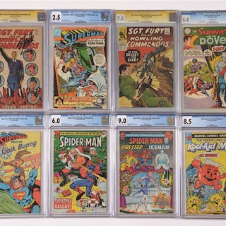 Lot consists of mostly Spider-Man comics circa 1980s and...