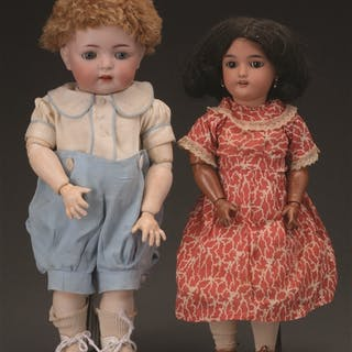 Lot consists of: The slightly taller and chubbier doll