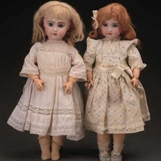 Lot consists of: Two dolls