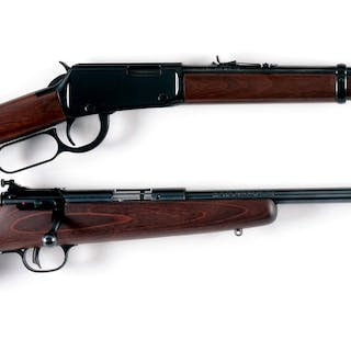 Lot consists of: (A) Henry Arms .22 rimfire lever action carbine