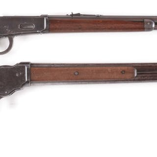 Lot consists of: (A) Winchester Model 1894 rifle manufactured 1902