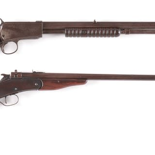 Lot consists of: (A) Winchester Model 1890 manufactured 1894