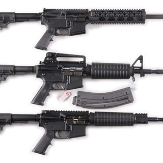 Lot consists of: (A) National Military Model AR-15 with...