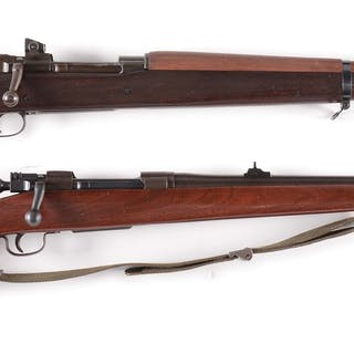 Lot consists of: (A) High condition Remington Model...
