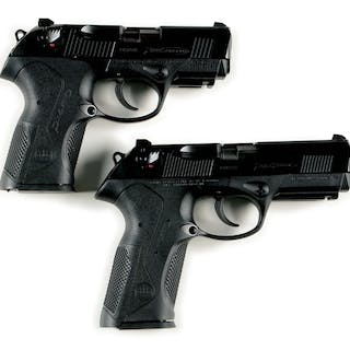 Lot consists of: (A) Beretta Px4 Compact F type with white three dot sights