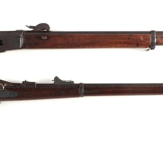 Lot consists of: (A) Swiss Vetterli military bolt action rifle