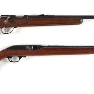 Lot consists of: (A) Remington Model 514 single shot bolt...
