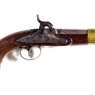 This style is sometimes referred to as the Model 1843 Navy pistol