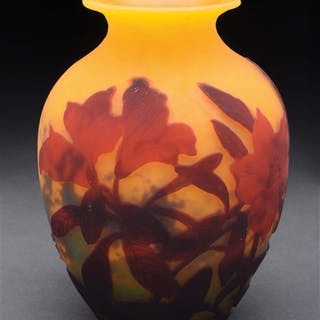 """Other Asian Antiques Antiques Antique Japanese Cut Glass Koi Art Deco Japanese Japan Vase 3.5""""x7.5"""" As Is Street Price"""