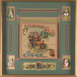 Game is in original box depicting Santa in early 20th...