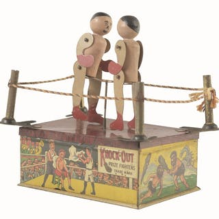 Strauss Knock Out prize fighter toy with nice lithography...