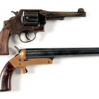 Lot consists of:(A) Smith & Wesson US Army Model 1917 double action revolver