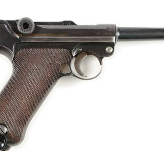 Features round barrel with dovetailed inverted V front sight