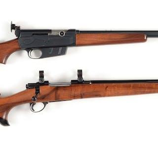 Lot consists of: (A) REMINGTON Model 81 semi-automatic rifle