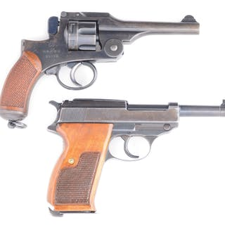 Lot consists of: (A) Japanese Type 26 revolver