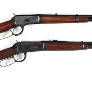 Lot consists of: (A) Classic carbine with round barrel