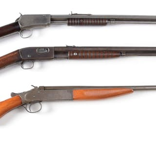 Lot consists of: (A) Winchester Model 1890 manufactured 1908