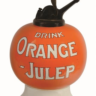 Great looking example of the block lettered Orange Julep dispenser