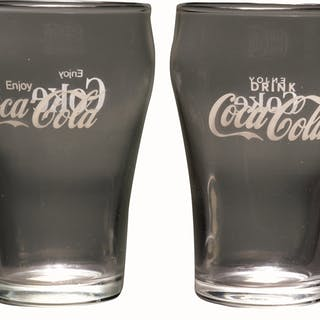 """The drink version features """"ENJOY COKE"""" on the other side..."""