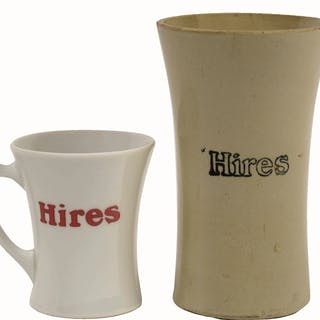 Two nice early mugs are featured here