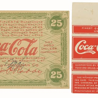 The gum wrapper is from the collection of Thom Thompson...