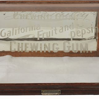 Nice cabinet with all original finish and lettering