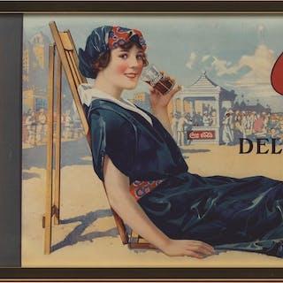 Four Seasons and Bathing Girl on the Beach