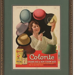 Nicely matted and framed under glass and reveals the...