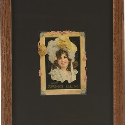 Nicely framed under glass this darling cutout is...