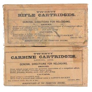 Lot consists of: (A) TWENTY CARBINE CARTRIDGES