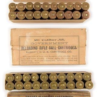 Lot consists of: (A) 20 Caliber .45
