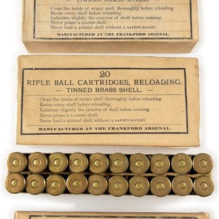 Lot consists of: (A) 20 CARBINE BALL CARTRIDGES