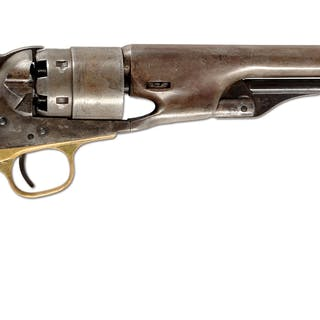 Standard mid-war Colt Army revolver with single action
