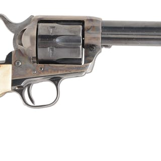 Standard revolver with blue and case color finish