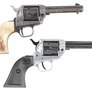 Lot consists of: (A) Colt Peacemaker .22 six shot single action revolver