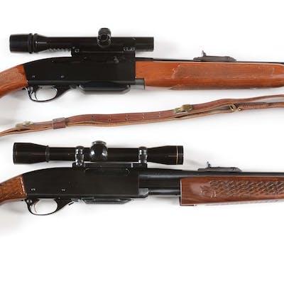 Lot consists of: (A) Semi-automatic Remington Model 742 rifle