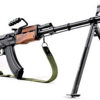 Soviet AK style semi-automatic rifle with wood stocks
