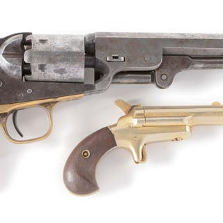 Lot consists of: (A) 1851 Colt Navy standard civilian...