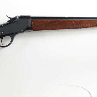 This custom rifle started with a Low-Wall take down frame...