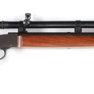 This rifle features a custom 1878 type hammerless falling...
