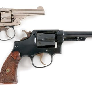 Lot consists of: (A) .32 Safety Hammerless 3rd Model manufactured 1909-37