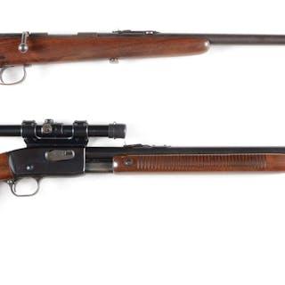 Lot consists of: (A) Remington Model 33 bolt action...