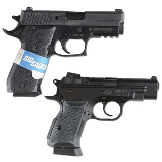 Lot consists of: (A) Sig P220 SAO pistol with German made...