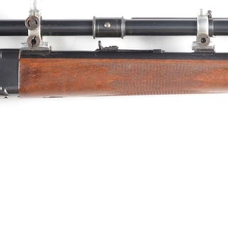 The basis for this custom rifle is the 1878 hammerless falling block action