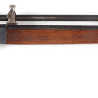 This rifle was built using a Sharp Model 1878 falling...