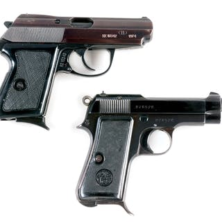 Lot consists of: (A) The P-64 is dated 1974 and caliber is 9mm